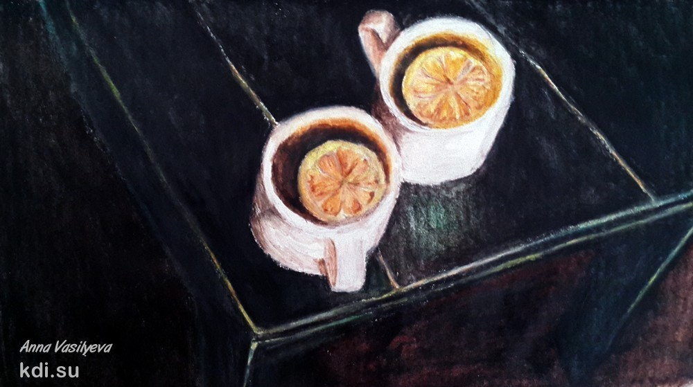 Drawn Tea with lemon