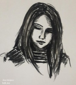 Drawn Portrait of a girl