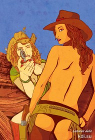 Drawn Girls of the wild West