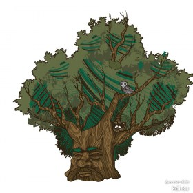 Drawn Ancient oak