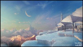 Sunrise Matte painting