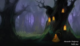 Dark fairy forest