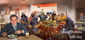 Drawn Knights of the restaurant