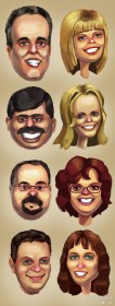 Drawn Caricatures