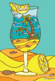 Drawn Summer cocktail