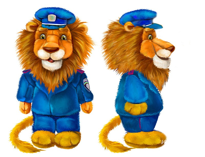 Lion in uniform